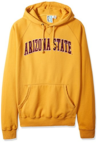 NCAA Arizona State Sun Devils Men's Sanded Fleece Pullover Hoodie, Vintage/Faded Mustard, X-Large