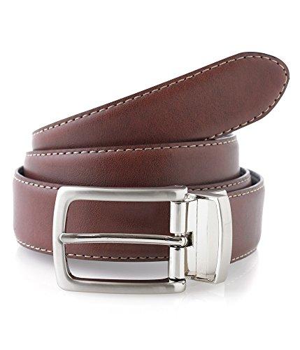 Club Room Leather Reversible Casual Belt, Tan/Black, 44 (Club Room Belt)
