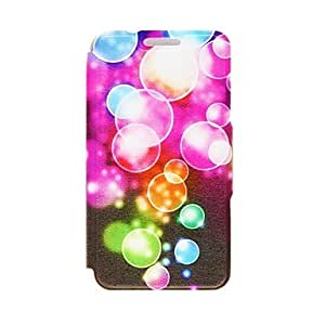 MOM Kinston Color Bubble Pattern PU Leather Full Body Case with Stand for iPhone 5/5S