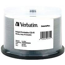 VERBATIM 94755 700MB 80-Minute 52x DataLifePlus CD-Rs, 50-ct Spindle