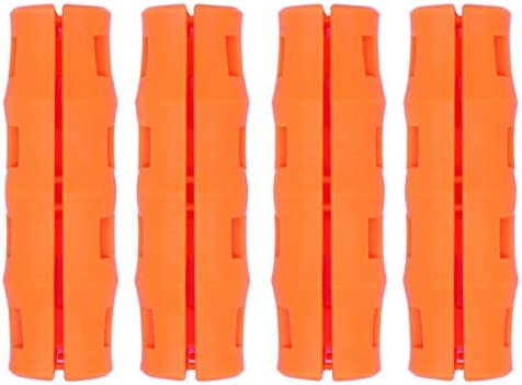 50 Pack Orange Bucket Handle Grips Reduce Hand Fatigue for Wire Bail Handle