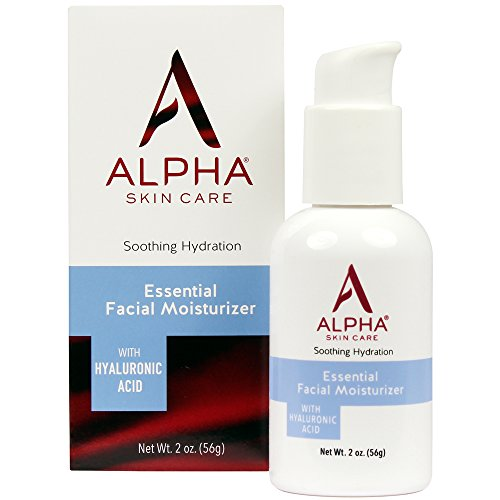 Alpha Skin Care - Essential Facial Moisturizer, with Hyaluronic Acid| Fragrance-Free and Paraben-Free| 2-Ounce (Packaging May Vary)