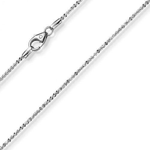 1,5mm à croisillons de chaîne collier bijou collier en or blanc 58538cm