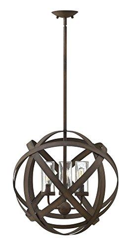(Hinkley Lighting Carson Vintage Iron Outdoor w/ 3 Light 60W)