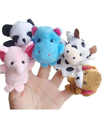 10 Cartoon Animal Finger Puppet Plush Toys - 2