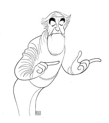 Al Hirschfeld's SELF PORTRAIT AT 89 Hand Signed Limited Edition - Self Signed Portrait