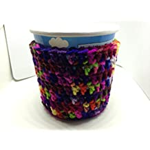 Ice Cream Cozy (Set of 2) varigated colors round free shipping handmade crochet