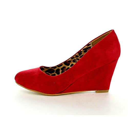 Mid Womens Shoes Slip Marie Almond Classic Pump Red Wedge 5 On Nine Toe Bella 5x4HSqn0SR
