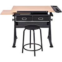 MDF + PVC + steel Drafting Table Drawing Desk With Ebook