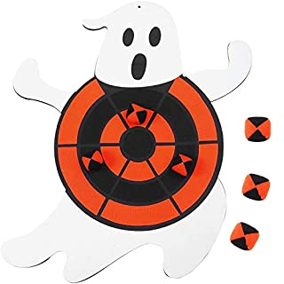Aneco Halloween Ghost Dart Board Sticky Balls Toys Games Spliceable Dart Board Kit for Halloween Toy Games,1 Dart Board and 6 Balls…