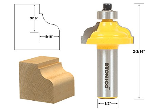 Fillet Ogee Router - Yonico 13179 Ogee Fillet Edging and Molding Router Bit with Medium 1/2