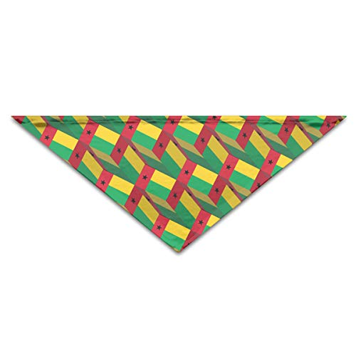 OLOSARO Dog Bandana Guinea-Bissau Flag 3D Art Pattern Triangle Bibs Scarf Accessories for Dogs Cats Pets Animals