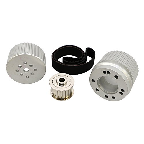 Assault Racing Products 2252KIT Small Block Chevy Billet Aluminum Gilmer Belt Drive Pulley Kit Long Water Pump SBC 305 350 (Pulley Chevy Aluminum)