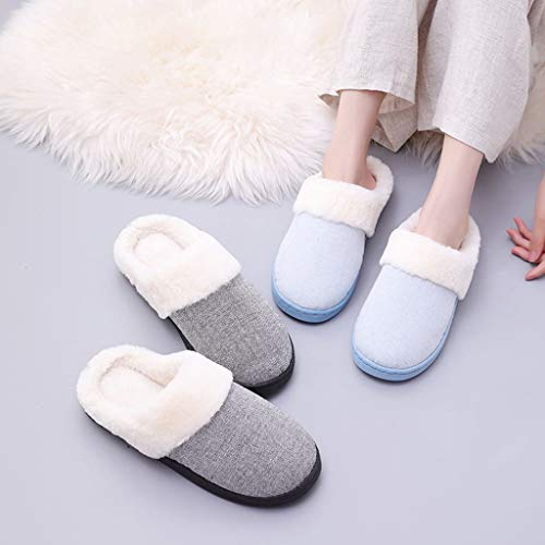 Kinlene Zapatillas De Casa Mujer Pantuflas Mujer Rebaño de ...