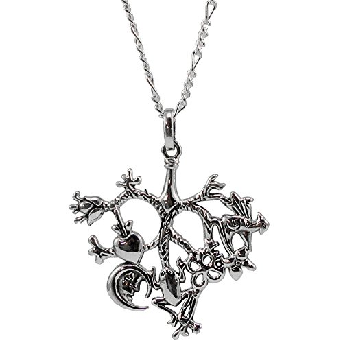 """On The Fringe Cimaruta Protective Heart Charm Amulet Pendant with 18"""" Chain WZPD3134"""