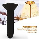 Iptienda Outdoor Heater Cover, Standup Round 210D