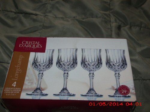 Cristal D'Argues Longchamp Set of 4 Liqueur Glasses (Longchamp Vintage)
