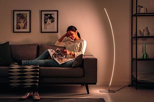Metallo Metallo Integriert 22 wattsW Alluminio integrato 12 x 27,75 x 144 cm alluminio 22 W Philips 3892217p1 myLiving Lampada da terra LED Hexagon 2100 LM