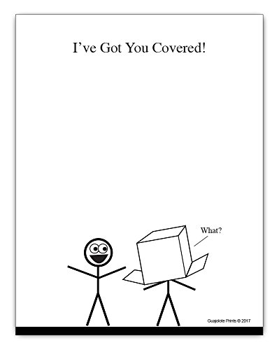 I've Got You Covered, To Do List Notepad Funny Office Supplies - Novelty Gag for Coworker, Friend, Boss, Manager