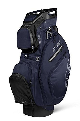 Reverse Cart Bag - Sun Mountain Golf 2018 C-130 Cart Bag Black, Navy (Black/Navy)