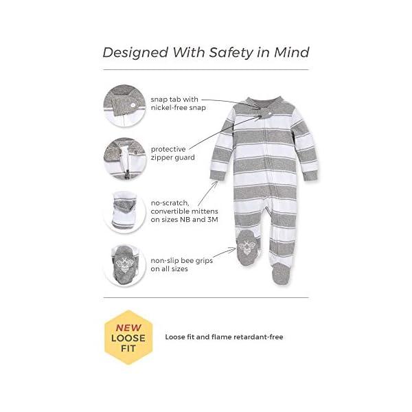 Zip Front Footed Pajama Organic One-Piece Romper-Jumpsuit PJ Burts Bees Baby Baby Sleep /& Play Montana Meadow Newborn