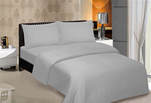 Bonne Nuit 500 Thread Count Hotel Collection Luxuryding Sheets Super Sale 100% Cotton Sateen Sheet Set with s (Queen, Silver Grey) from Bonne Nuit