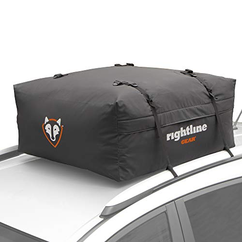 Rightline Gear Range Jr Car Top Carrier, 10 cu ft Sized for Compact Cars, Weatherproof +, Attaches With or Without Roof…
