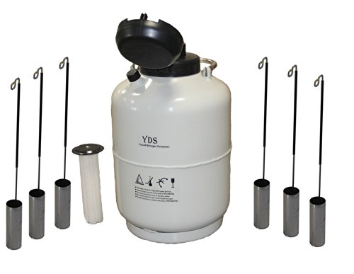 20 L Cryogenic Container Liquid Nitrogen Ln2 Tank with Straps and Carry Bag