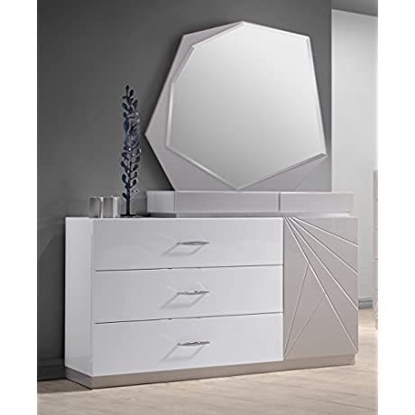 J And M Furniture 17852 DM Florence Dresser And Mirror