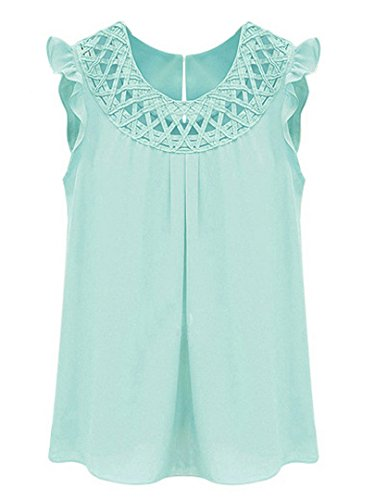 Choies Chiffon Lattice Keyhole Sleeveless