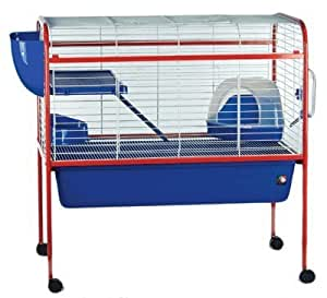 Bunny 4 indoor rabbit guinea pig cage with for Guinea pig stand