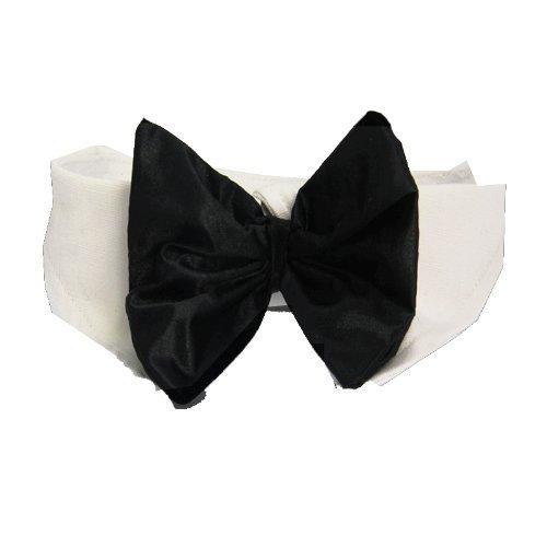 DOGGIE DESIGN Formal Black Dog Bow Tie (3xl: Neck 26-31