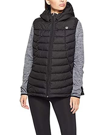 Champion Women's Powertrain Puffer Vest, Black, X-Small