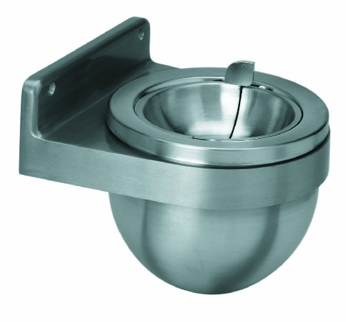 Continental Wall Mount (Continental 650 Wall Mount Ash Receptacle, Round, Silver)
