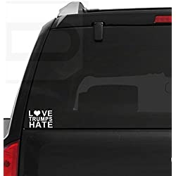 Love Trumps Hate Anti Trump Pro Hillary Vinyl Decal Sticker for Cars, Trucks, Windows, Laptops ETC
