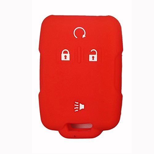 Coolbestda Silicone Keyless Jacket Key Fob Remote Control Cover Case Protector for 2018 2017 2016 Chevrolet Chevy Silverado Colorado GMC Canyon Sierra Yukon Cadillac M3N32337100 13577770 13577771