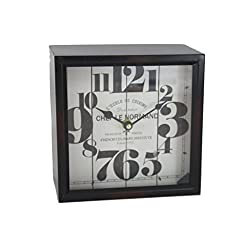 Antiqued Metal French Inspired Mantle Clock - Chef Le Normande
