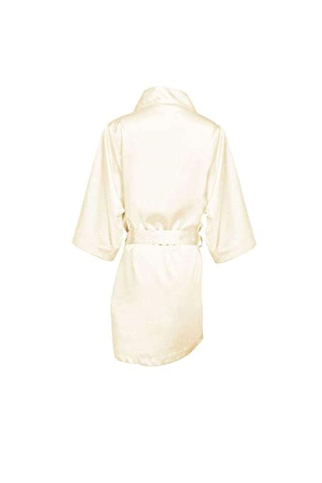 85da6ef6a9 Amazon.com  Blank Flower Girl Satin Robe Style FGBLNKRB