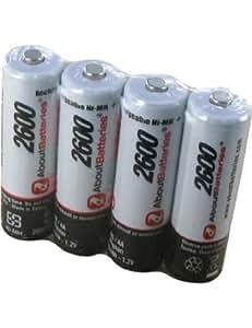 Batería por SAMSUNG S860, Blister de 4 pilas, 1.2V, 2600mAh, Ni-MH