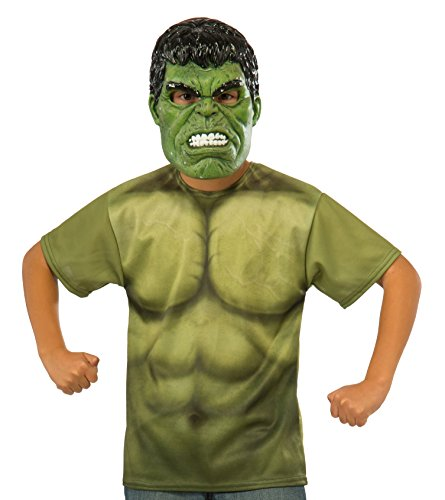 Thor: Ragnarok Child's Hulk Costume Top and Mask Set, Medium -