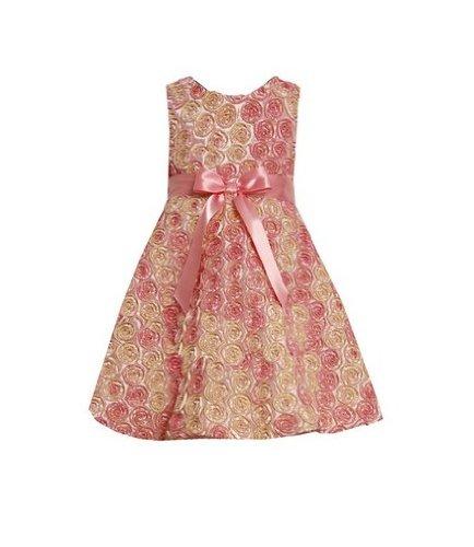 Bonnie Jean Baby-girls Soutache Satin Fall Holiday Dress