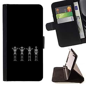 Momo Phone Case / Flip Funda de Cuero Case Cover - Divertido Calaveras Esqueleto;;;;;;;; - Samsung Galaxy Note 5 5th N9200