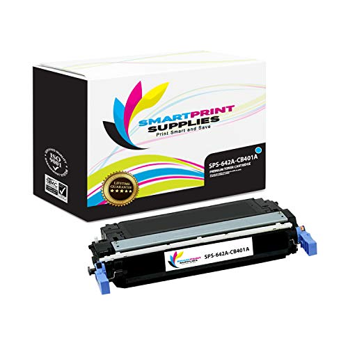 Smart Print Supplies Compatible 642A CB401A Cyan Toner Cartridge Replacement for HP Color Laserjet CP4005 Printers (7,500 Pages) ()