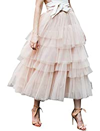 3a57a282d9 Women's Nude Pink/Black Tiered Layered Mesh Ballet Prom Party Tulle Tutu  A-line