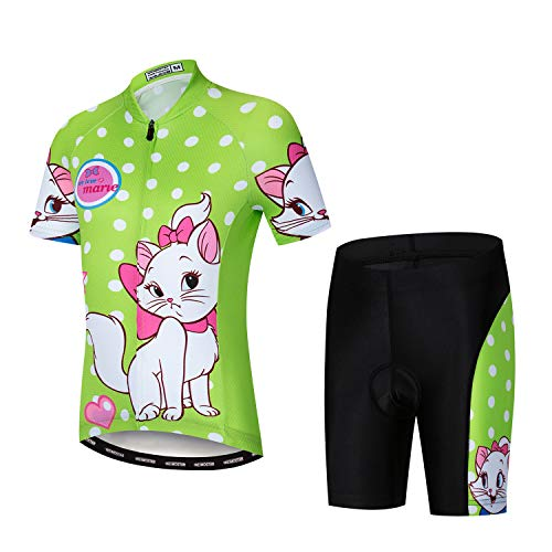 Weimostar Children Boys' Girls' Cycling Jersey Set Short Sleeve 3D Padded Shorts Breathable