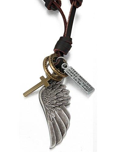 ORAZIO Vintage Pendant Necklace Adjustable