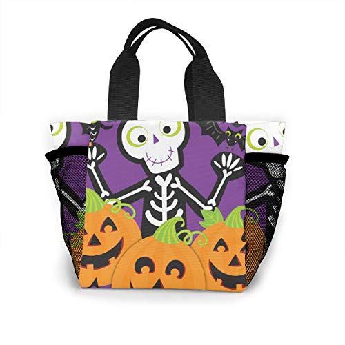 Flame Flora Lunch Bag Cooler Bag Food Insulated Bag Lunch Box Tote Bag Picnic Heat Preservation Cold Bag For Office School Picnic Outdoor Halloween Party