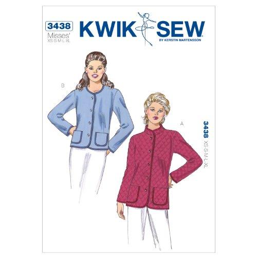 Kwik Sew K3438 Jackets Sewing Pattern, Size XS-S-M-L-XL