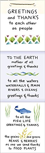 Greetings and Thanks to the Natural World accordion poster