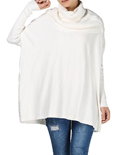Mordenmiss Womens Cowl Neck Sweaters Ribbed Pullover Knit Tops